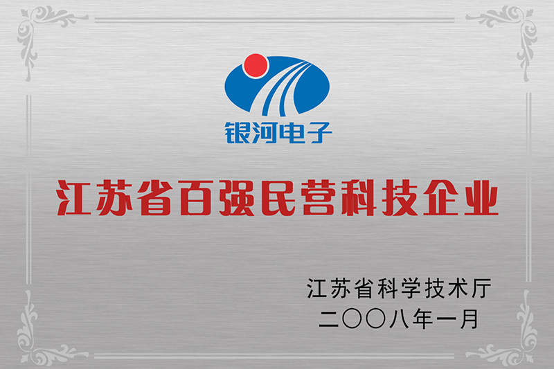 Top 100 Private Technology Enterprise of Jiangsu Province